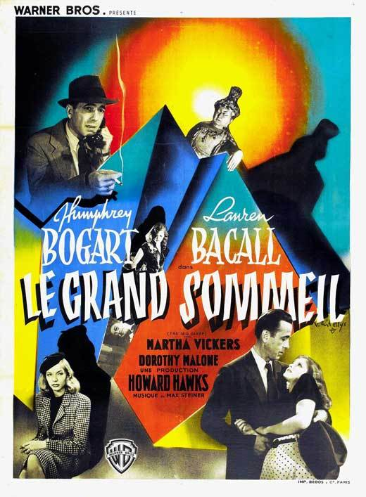 The big sleep french movie poster