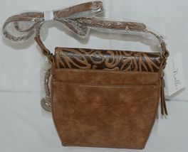 Simply Noelle Brand Tan Brown Color Floral Leaf Pattern Womens Purse image 3