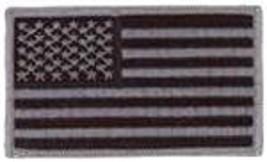 American Flag Black Grey 2 X 3 Embroidered Uniform Shirt Patch Hook Loop - $16.14