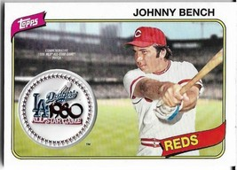 2018 Topps Commemorative 1980 All Star Game Manufactured Patch Johnny Bench Reds - $7.99