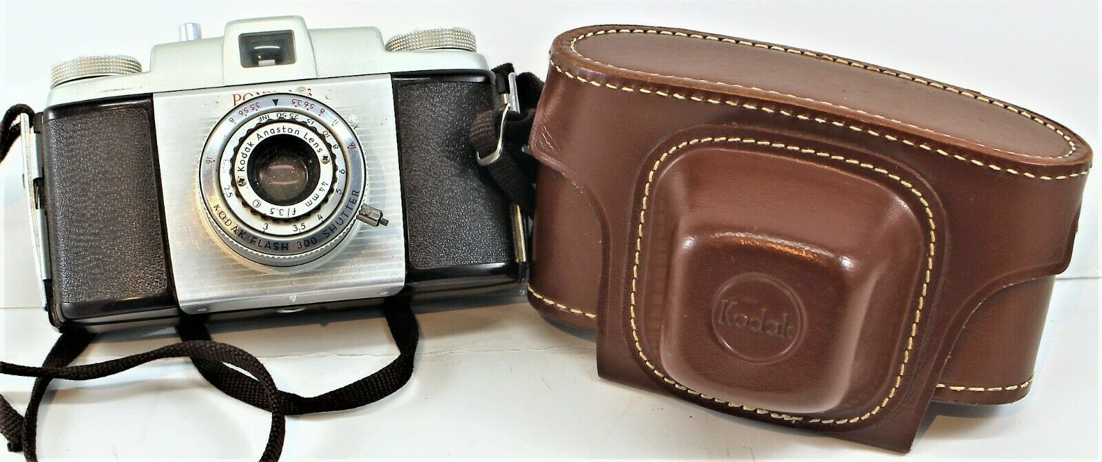 Kodak Pony 135 Camera With Kodak Leather Field Case Untested Free Shipping