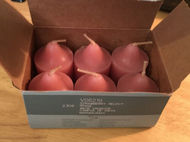 NEW IN BOX PartyLite Strawberry Fields Votive Box of 6 Candles V06219 - $11.75