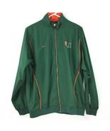 Nike UM Team Mens Size Large Jacket Wind Breaker Green/Orange - $32.89