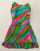 Vintage Barbie Swirly Cue #1822 Dress 319-16 - $28.00