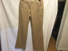 EXPRESS EDITION TAN WITH GOLD MISSES SZ 2 CASUAL PANTS WOMENS VGC CUTE - $8.66