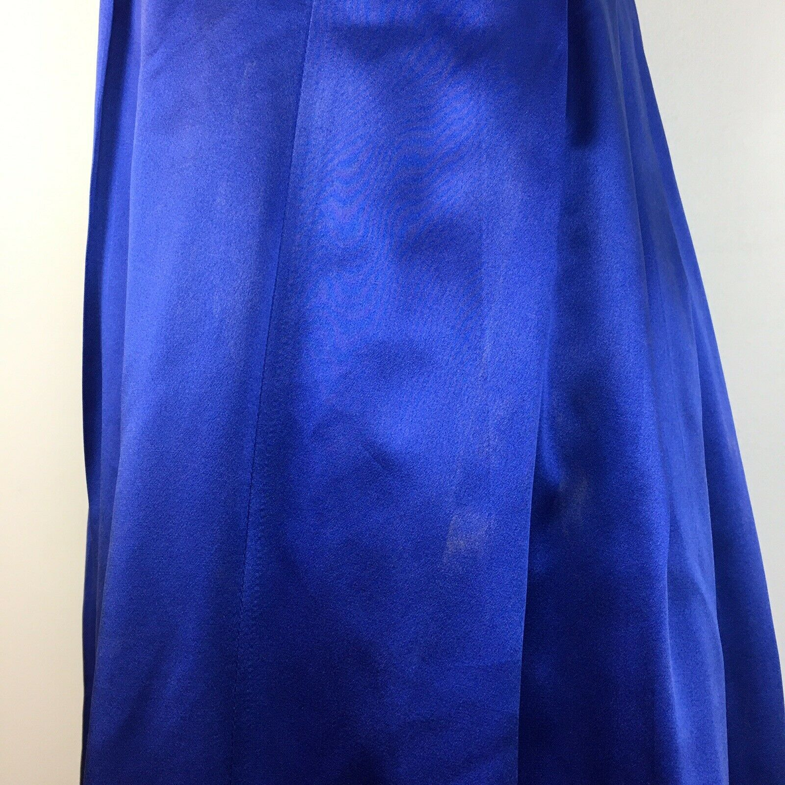 BCBG Maxazria Women's Blue Satin Beaded Dress with Black Lace Front Size 2