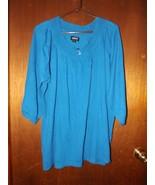 Avenue Blue Boat Neck 3/4 Sleeve Lightweight Sweater - Size 26/28 - $18.99