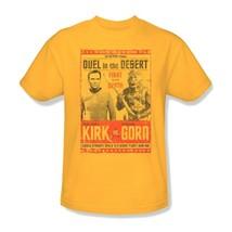 Star Trek Kirk vs Gorn T-shirt Free Shipping original TV series cotton cbs1112 image 1