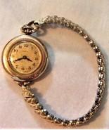 Women's Round Face Hand Winding Wristwatch S.W.C. Co 20 Yrs Service Vtg ... - $98.95