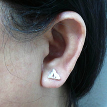Handmade Sterling Silver Mother and Child Wolf Stud Earring - $35.00