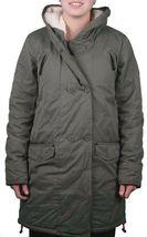 Bench Women's Long Green Hawkish Jacket Winter Coat w Soft Lining BLKA1773 NWT image 3