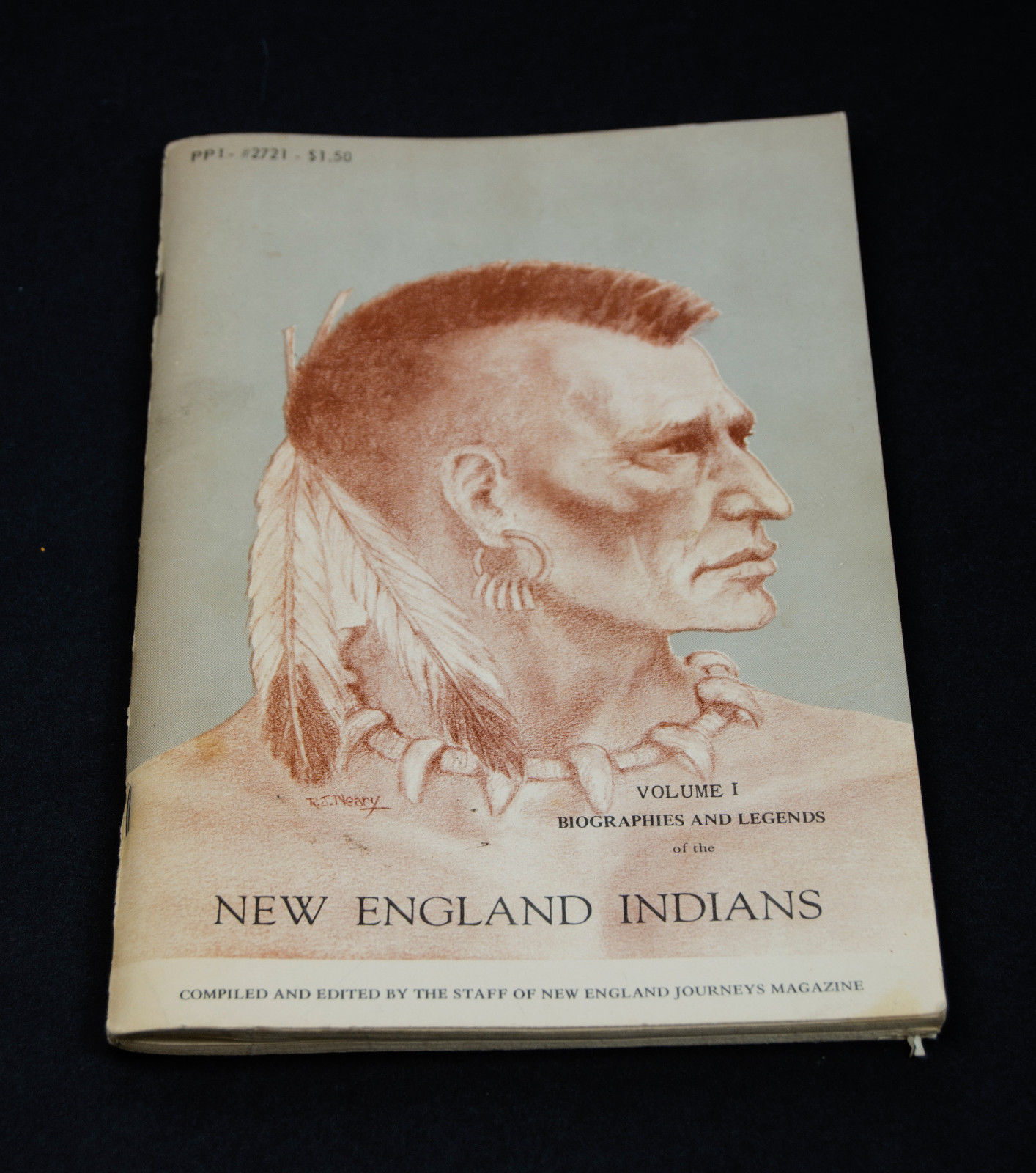New England Indians, Biographies and Legends, Leo Bofanti, Vol 1, 1969 paperback