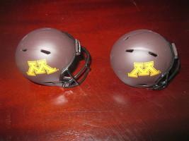 "(2) Ncaa Minnesota Gophers Pocket Pro Football Helmet 2"" Size Riddell Lot - $8.86"