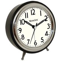 Westclox 75032 Classic Retro Alarm Clock with Chrome Bezel - €22,37 EUR