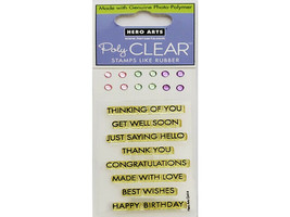 Hero Arts Classic Messages Sparkle Clear Stamp Set with Rhinestones #CL414 - $4.45