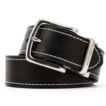 Tommy Hilfiger Men's Reversible Contrast Stitching Leather Belt 11TL08X009 image 3