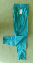 Scrub Pants Action Line Teal Uniform Small Elastic Waist Side Pockets 65... - $16.46