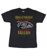 Star Wars Millennium Falcon Men's Gray Poly/Cotton Graphic T-Shirt NEW - $11.75