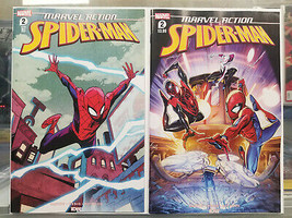 Marvel Action Spider-Man #2 First Print + 1:10 Variant IDW Marvel 2 Comic Lot - $14.85