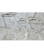 Fostoria Crystal Platinum Sheffield Water, Wine, Sherbet Goblet set of 6 - $48.40