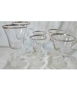 Fostoria Crystal Platinum Sheffield Water, Wine, Sherbet Goblet set of 6 - $48.40