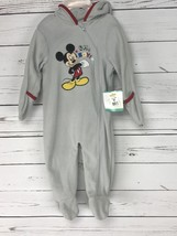 Disney Baby One Piece Size 6 / 9 months Mickey Mouse Hoodie Warm New - $9.49