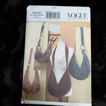 Vogue 8310 Hobo Bag Purse Pattern Variations UNCUT - $13.73