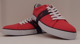 Genuine Polo Ralph Lauren Mens Size 12 D Red Black Fashion Sneaker Shoe Burwood - $60.44 CAD