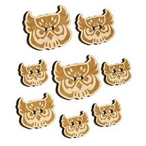 Great Horned Owl Head Wood Buttons for Sewing Knitting Crochet DIY Craft - Mediu - $9.99