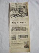 Advertisement 1939 Chemcraft Chemical Sets, Porter Chemical Co, Hagersto... - $9.99