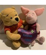 Winnie the Pooh & Piglet Friendship Day Best Friends Disney Store 1999 V... - $14.27