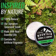 Shaving Soap - Traditional 100% Natural Spearmint Shave Soap - Long Lasting 3.7  image 4