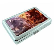 Dragons D40 Silver Metal Cigarette Case RFID Protection Wallet Fantasy - $10.84