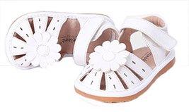 Girls Close Toe Flower Princess Casual Outdoor Sandal(Toddler/Little Kids) White image 1