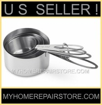 US SELLER! FREE S&H! —STAINLESS STEEL—MEASURING CUPS—4 PIECE SET— BRANDL... - £9.23 GBP