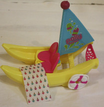 Polly Pocket Banana Boat with some Accessories - $8.90