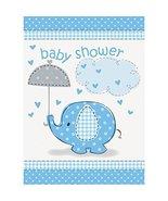 Blue Elephant Boy Baby Shower Invitations, 8ct - $3.47