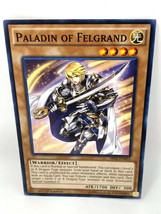 Yu-Gi-oh! Paladin of Felgrand, 1st Edition 1996 Mint Condition Trading Card - $1.00