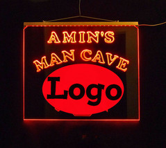 Personalized Man Cave Bar Custom LED Sign,  sports, Logo Multicolor Chan... - $158.40