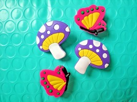 Clog Shoe Plug Button Charm Fit Belt WristBand Accessorie Butterfly - $7.99