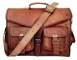 New Men Shoulder Vintage Rustic Soft Leather Office Casual Messenger Bro... - $48.99