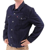 NEW LEVI'S MEN'S PREMIUM COTTON BUTTON UP DENIM JEANS JACKET DARK BLUE 723350039