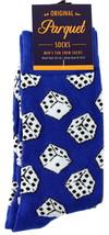 Gambling Dice Mens Novelty Blue Crew Socks Casual Cotton Blend Fun Gambl... - $12.95