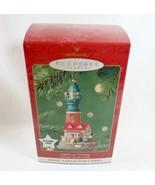 Hallmark 2001 NIB Lighthouse Greetings #5 Magic Light Santa Mrs Claus Or... - $14.95