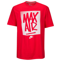 NIKE Max Air Tag T-Shirt sz S Small Red Grey Just Do It Roshe Zero JDI 9... - $29.99