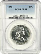 1950 50c PCGS PR 64 - Popular First Year Proof - Franklin Half Dollar - $480.15
