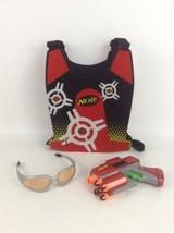 Nerf Gun Dart Tag Red Team Blaster Pistols Goggles Red Vest Darts Hasbro... - $24.70