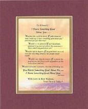Personalized Touching and Heartfelt Poem for other Occasions - I Know Something  - $19.75