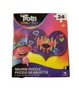 Trolls World Tour Puzzle Queen Barb Heart Shaped Puzzle!  24 piece Brand... - $5.08