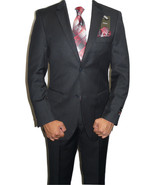 Mens Two Button Suit  ANGELO ROSSI Cord Stripe Classic Business Dressy 3... - $69.00